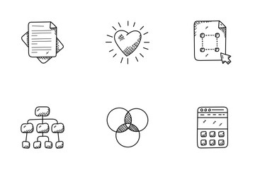 Web Design And Development Doodle Icons  Icon Pack