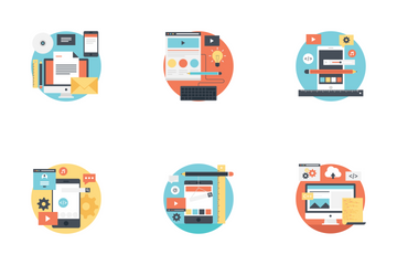 Web Design And Development Flat Icons Icon Pack