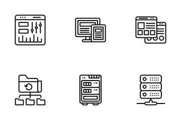Web Design And Web Hosting Icon Pack