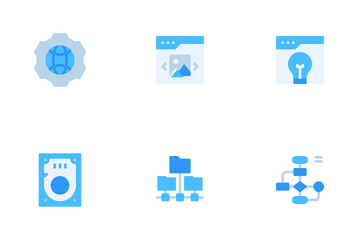 Web Design Development Flat Icon Pack