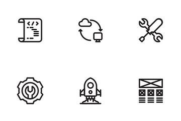 Web Design Development LineArt Icon Pack