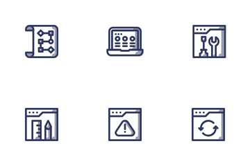 Web Design Development Shady Icon Pack