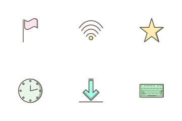 Web Filled Outline Icon Pack