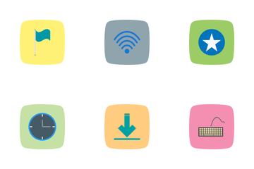 Web Flat Curve BG Icon Pack