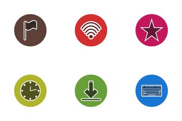 Web Glyph Circle Icon Pack