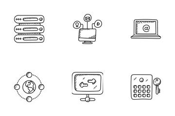 Web Hosting Doodle Icons Icon Pack