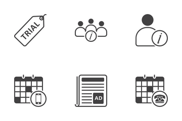 Web Icon Black Outline 4 Icon Pack