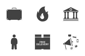 Web Icon Black Solid 6 Icon Pack