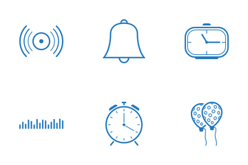 Web Icon Cyan Outline 5 Icon Pack