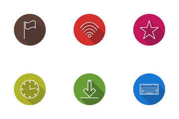Web Line Circle Icon Pack
