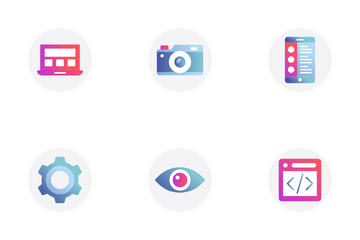 Web Optimization And Design Development Icon Pack