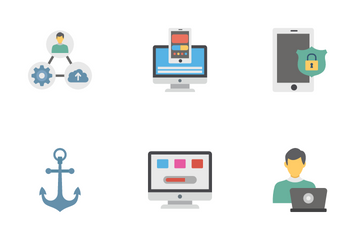 Web Programming And Hosting Icon Pack