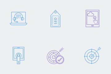 Web & SEO Line Color  Icon Pack