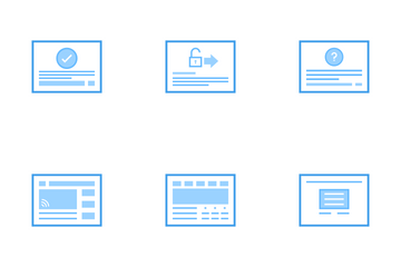 Web Wire Frames Icon Pack