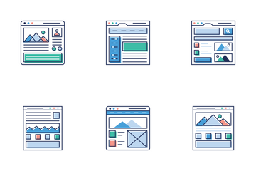 Website Sitemaps Icon Pack