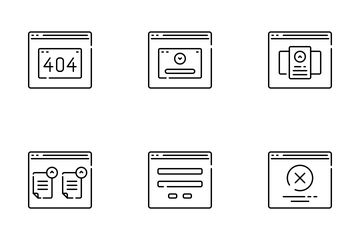 Website Wireframe Icon Pack