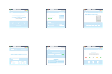 Website Wireframe Templates Icon Pack