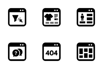 Websites And Landing Pages Icon Pack