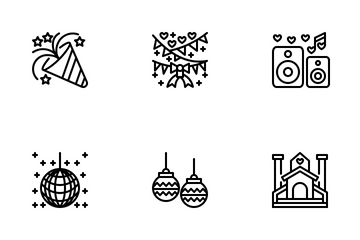 Wedding And Party Icon Pack