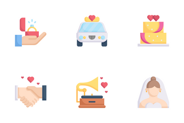 Wedding Day Icon Pack