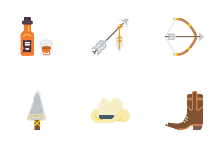 Wild West - Flat Icon Pack