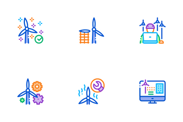 Wind Energy Technicians Icon Pack