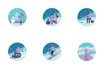 Winter Activity Icon Pack