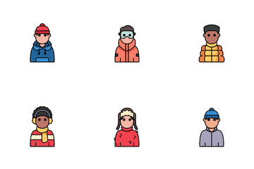 Winter Avatars Icon Pack