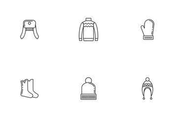 Winter Clothes Icon Pack