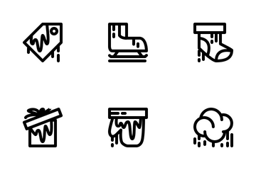 Winter Line Icon Pack