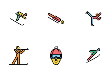 Winter Sport Doodles Icon Pack