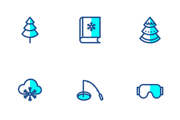 Winter Two Tone Colours Icon Pack