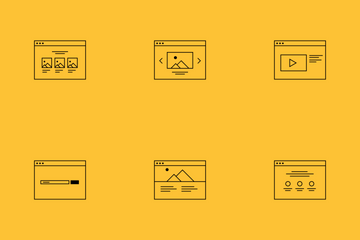 Wireframe Ison Set Icon Pack