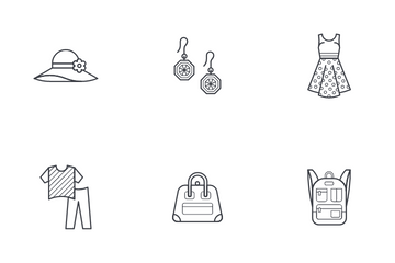 Woman Accessories Icon Pack