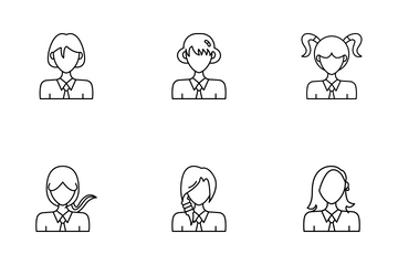 Woman Avatar Icon Pack
