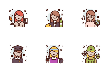 Woman Profession Icon Pack