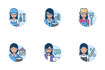 Woman Professions Icon Pack