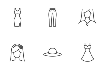 Women Clothes Icon Pack