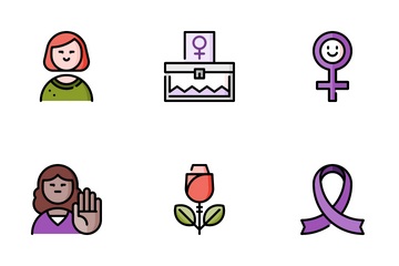 Women Day Icon Pack