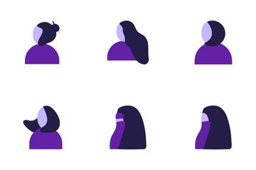 Women's Hairstyle Icon Pack