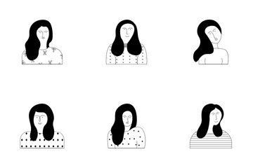 Women Silhouette Icon Pack