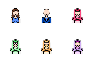 Women Style Avatar Icon Pack