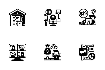 Work At Home Icon Pack