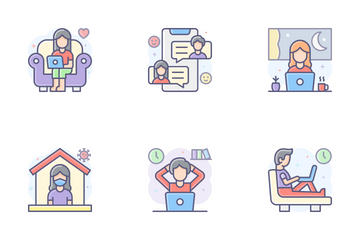 Work From Home 2 Icon Pack