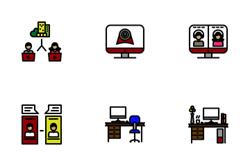Work From Home Icon Pack Icon Pack