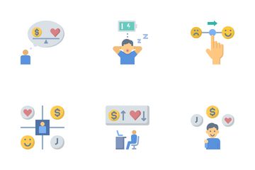 Work Life Balance And Stress Management Icon Pack
