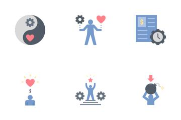 Work Life Balance Flat Icon Pack