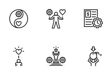 Work-Life Balance Outline Icon Pack
