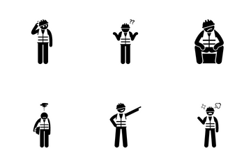 Worker Poses Icon Pack