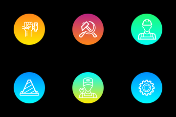 Workers Day Icon Pack